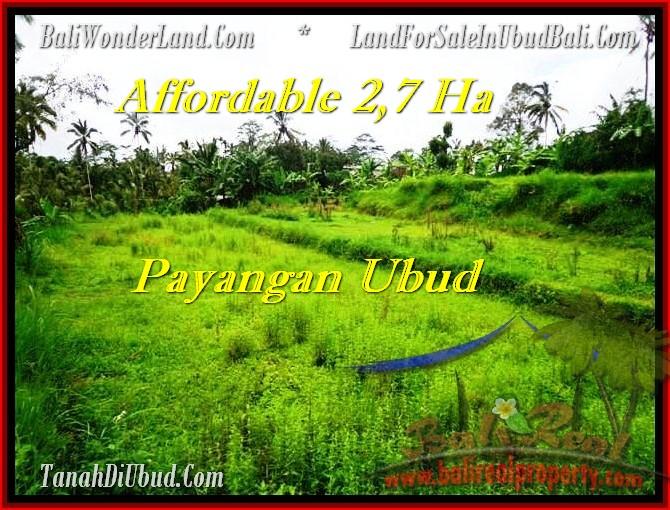 LAND FOR SALE IN Ubud Payangan BALI TJUB469