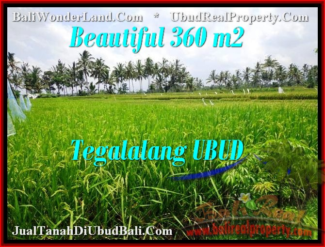 Magnificent 360 m2 LAND SALE IN UBUD TJUB482