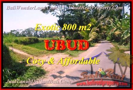Exotic PROPERTY 800 m2 LAND IN UBUD BALI FOR SALE TJUB457
