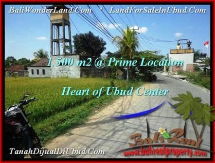Exotic PROPERTY 1,500 m2 LAND IN Sentral Ubud FOR SALE TJUB508