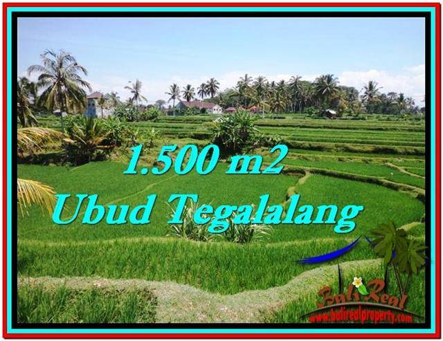 FOR SALE Beautiful PROPERTY 1,500 m2 LAND IN Ubud Tegalalang TJUB528
