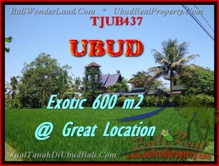 Beautiful UBUD BALI 600 m2 LAND FOR SALE TJUB437