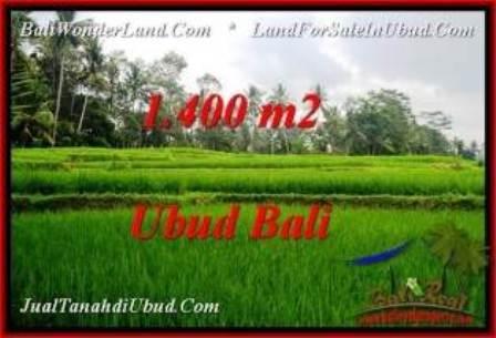 Beautiful PROPERTY Ubud Pejeng 1,400 m2 LAND FOR SALE TJUB539