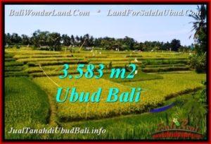 Exotic PROPERTY 3,583 m2 LAND FOR SALE IN Ubud Pejeng BALI TJUB542