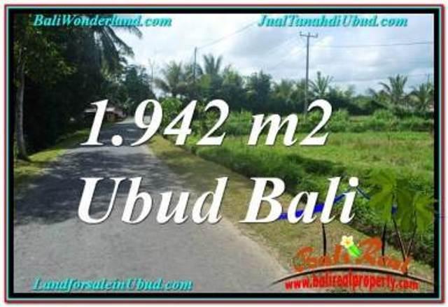 Affordable 1,942 m2 LAND FOR SALE IN UBUD BALI TJUB626