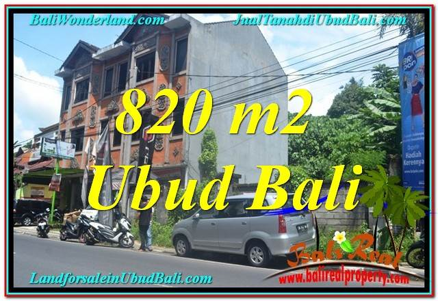 UBUD BALI 820 m2 LAND FOR SALE TJUB643