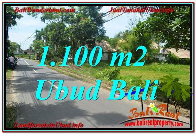 UBUD BALI 1,100 m2 LAND FOR SALE TJUB645