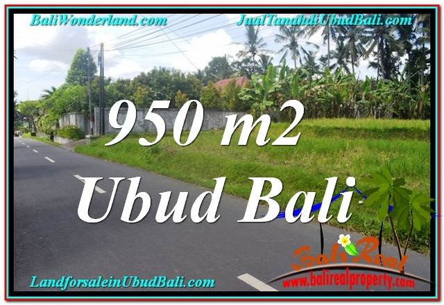Magnificent UBUD BALI 950 m2 LAND FOR SALE TJUB648