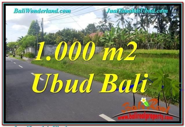 FOR SALE Affordable 1,000 m2 LAND IN Sentral / Ubud Center BALI TJUB649