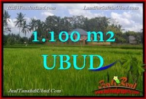 Exotic 1,100 m2 LAND IN UBUD BALI FOR SALE TJUB651