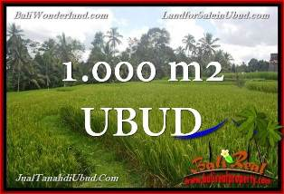 Magnificent UBUD BALI 1,000 m2 LAND FOR SALE TJUB653