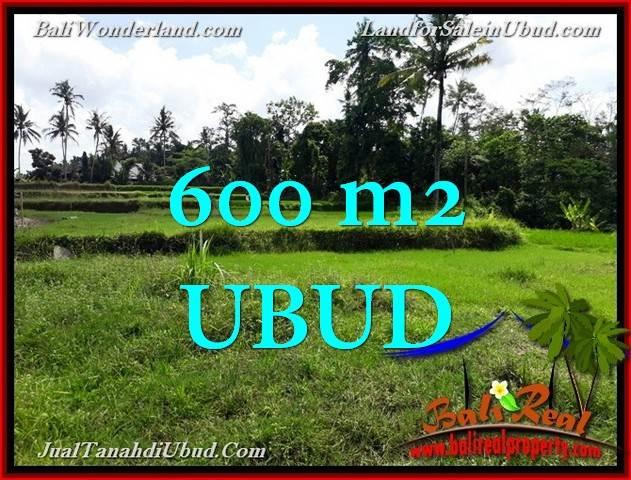 600 m2 LAND IN UBUD BALI FOR SALE TJUB657