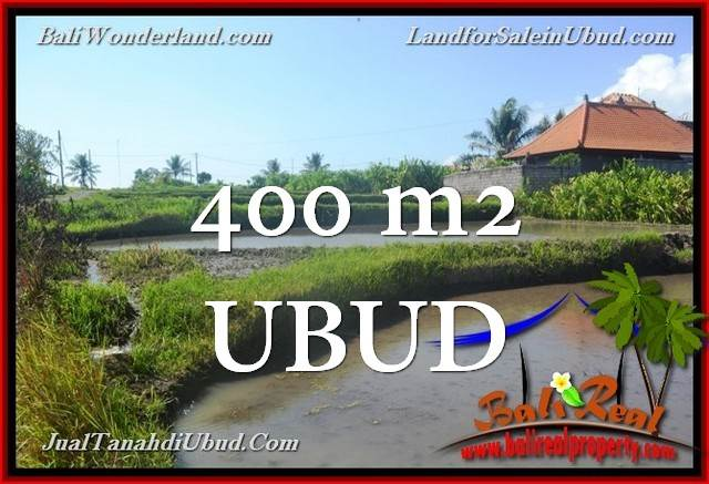 Exotic PROPERTY 400 m2 LAND FOR SALE IN Ubud Gianyar TJUB659