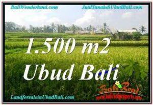 1,500 m2 LAND FOR SALE IN UBUD BALI TJUB667