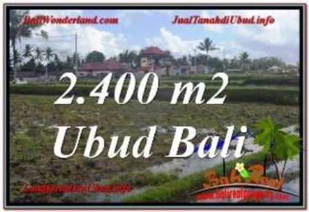 Affordable PROPERTY Ubud Pejeng BALI 2,400 m2 LAND FOR SALE TJUB620