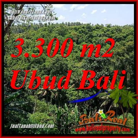 Magnificent 3,300 m2 Land sale in Ubud Bali TJUB692
