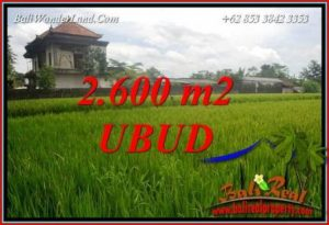 Beautiful Property 2,600 m2 Land sale in Ubud Pejeng TJUB701