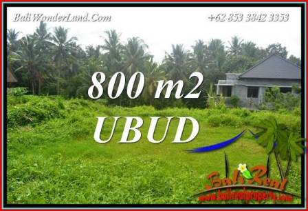 FOR sale Beautiful 800 m2 Land in Ubud Bali TJUB706