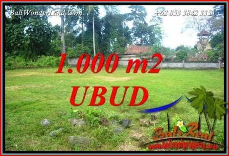 Magnificent Ubud Pejeng 1,000 m2 Land for sale TJUB728